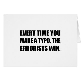 Typo Errorists Card