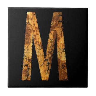 Typo Letter M Tile