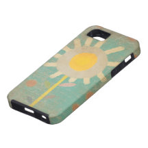 Typo Vintage Turquoise Old One Flower Case iphone  iPhone 5 Cases