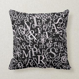 Typographic Art Cushion
