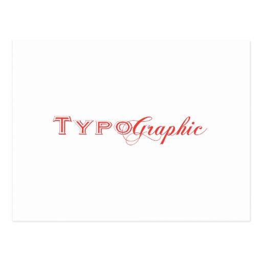 TypoGraphic Logo Postcards