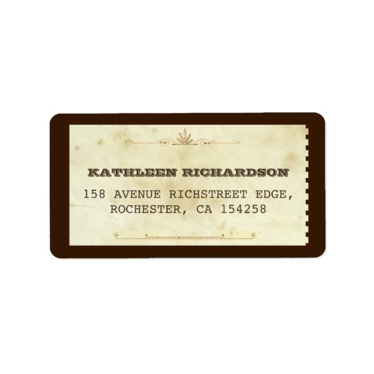 typographic old address labels