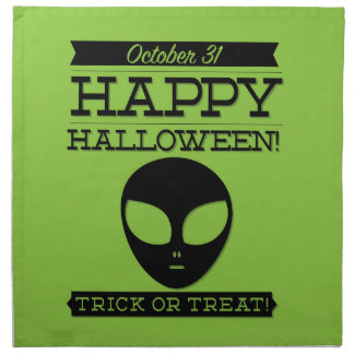 Typographic retro Halloween Napkin