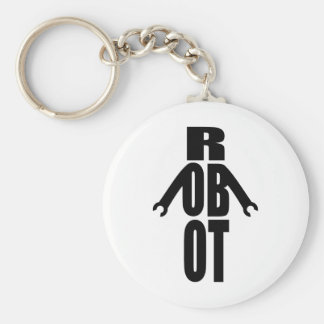 Typographic Robot Keychain