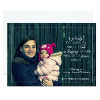 Typographic Scripture Christmas Photo Card