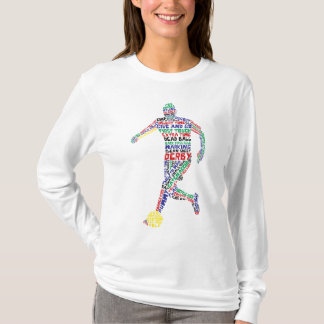 Typographic Soccer Player T-Shirt