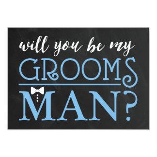 TYPOGRAPHIC WILL YOU BE MY GROOMSMAN | GROOMSMAN 11 CM X 16 CM INVITATION CARD