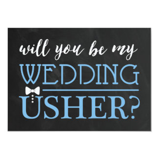 TYPOGRAPHIC WILL YOU BE MY USHER | GROOMSMAN 11 CM X 16 CM INVITATION CARD