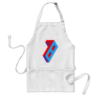 Typographical design of 78. For people born in 78 Standard Apron