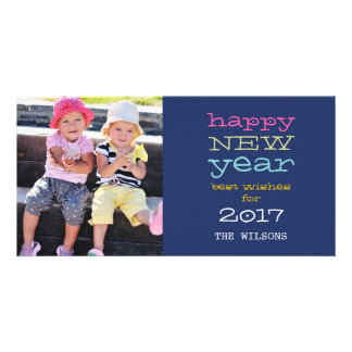 Typography 2017 Happy New Year Holiday Photo Card