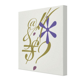 Typography (Abstract Composition) Canvas Print