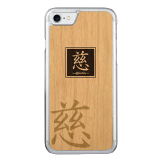 """Typography """"Affection """" of Chinese character Carved iPhone 8/7 Case"""