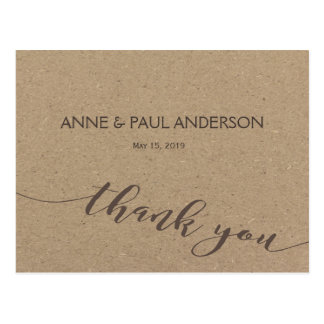Typography and kraft paper Thank You Card