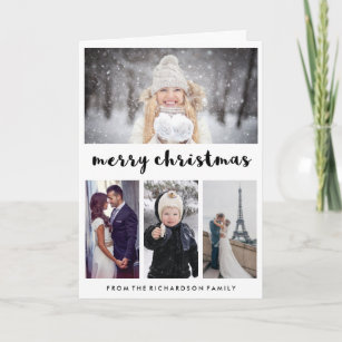 Typography and Photos | Modern Merry Christmas