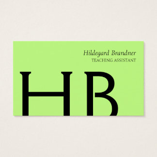 Typography and spring colors business card