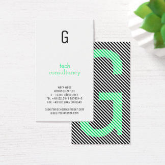 Typography based green business card