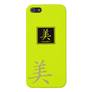 """Typography """"Beautiful """" of Chinese character iPhone 5/5S Covers"""