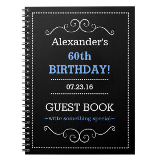 Typography Birthday Party Guest Book- Notebooks