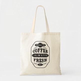 Typography Coffee Label Budget Tote Bag