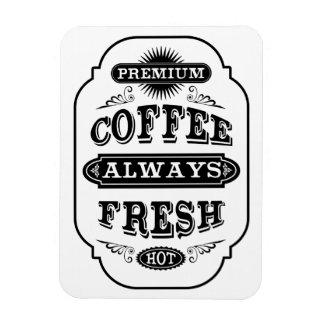 Typography Coffee Label Rectangular Photo Magnet