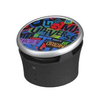 Typography Collage Gossip Magazine Clippings Bluetooth Speaker