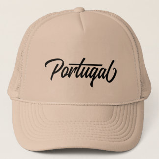 Typography country name for Portugal Trucker Hat