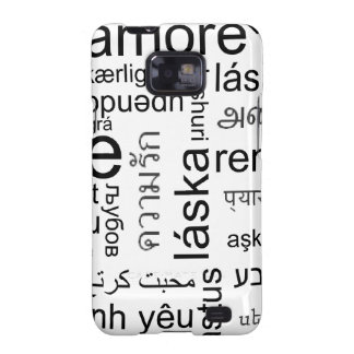 Typography: Different words for Love Samsung Galaxy S2 Case