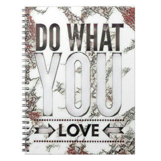 Typography Do What You Love Spiral Notebook