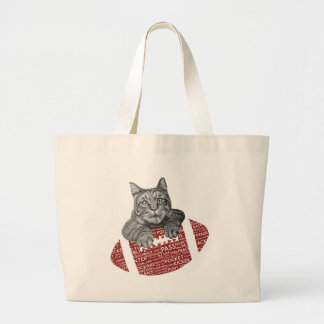 Typography funny American football Cat Tote Bag
