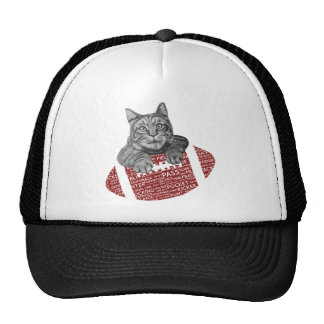 Typography funny American football Cat Hat