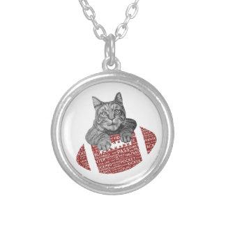 Typography funny American football Cat Custom Jewelry