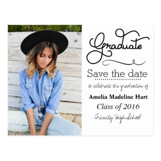Save The Date Graduation Postcards  Zazzlecouk. Free Project Timeline Template. Best Aunt Ever. Excellent Acquisitions Editor Cover Letter. Paper License Plate Template. About Me Page Template. Newspaper Template For Ppt. Price List Template Excel. College Graduation Gifts For Him