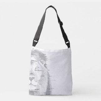 Typography Lion Crossbody Bag