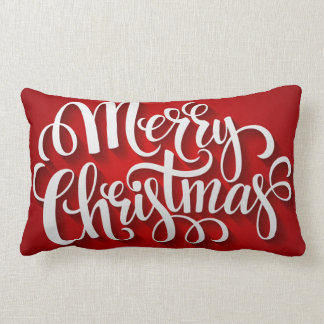 Typography Merry Christmas Holiday Pillow Cushion