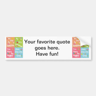 Typography Motivational Phrase - Collage Bumper Sticker