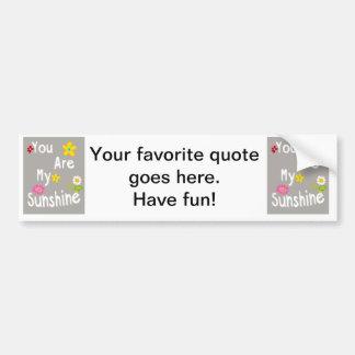 Typography motivational phrase - Grey Car Bumper Sticker