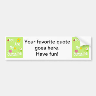Typography Motivational Phrase - Lime Green Bumper Sticker