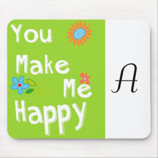 Typography Motivational Phrase - Lime Green Mousepads