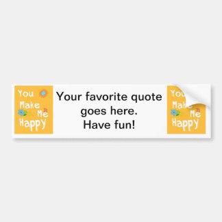 Typography motivational phrase - Orange Bumper Sticker