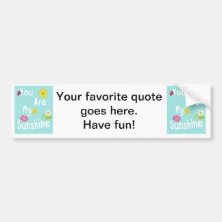 Typography motivational phrase - Pastel Blue Car Bumper Sticker
