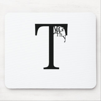 Typography Mouse Mat