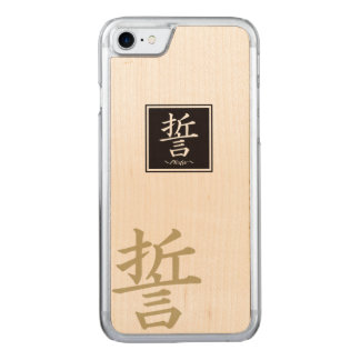 """Typography """"Pledge """" of Chinese character Carved iPhone 8/7 Case"""