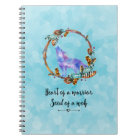 Typography Quote with a Watercolor Wolf Boho Style Notebook
