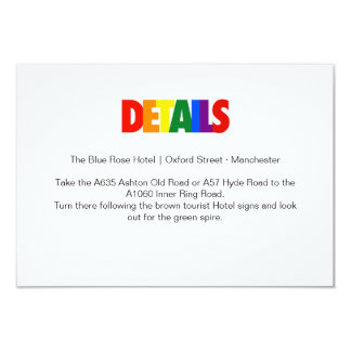 Typography Rainbow Gay Wedding LGBT Flag Enclosure 9 Cm X 13 Cm Invitation Card