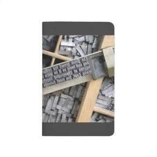 Typography; vintage metal letters - letterbox journals