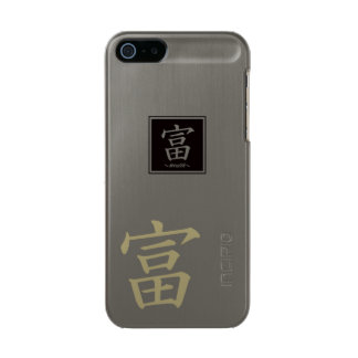 "Typography ""Wealth "" of Chinese character Incipio Feather® Shine iPhone 5 Case"