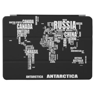 Typography World Map iPad Air Cover