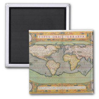 Typus Orbis Terrarum, map of the world Square Magnet