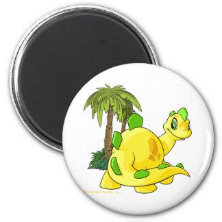 Tyrannian  yellow Chomby gazing 6 Cm Round Magnet