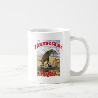Tyrannosaura Regina Basic White Mug